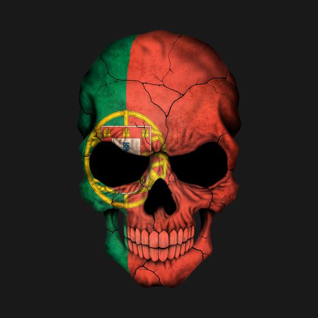 Portuguese Flag Skull