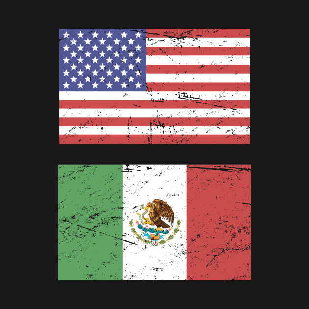 United States Flag & Mexico Flag