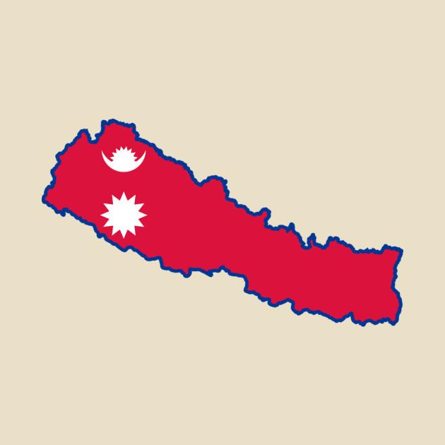 Nepal Map Flag