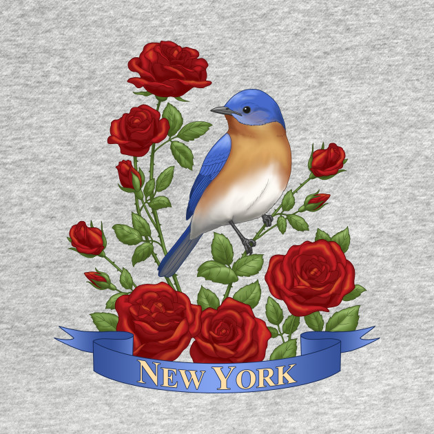 New York State Bluebird and Rose