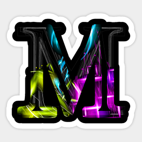 Letter M Stickers Teepublic