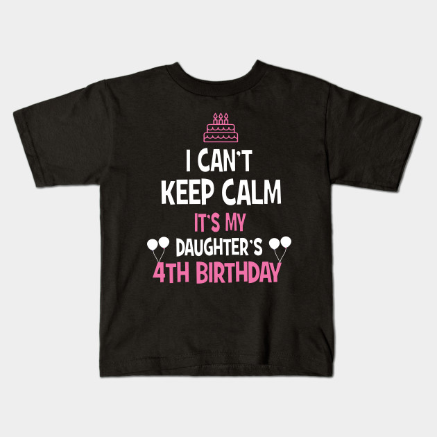 4th Birthday Girl T Shirt 4 Years Old Party Gift Kids