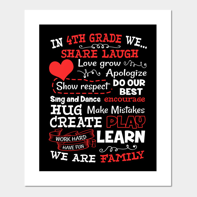 4th Grade We Are Family Fun School Shirt Teacher Gift Funny