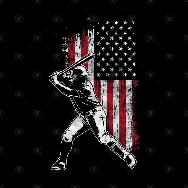 American Flag Baseball Batter Design
