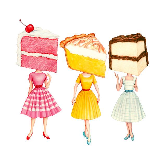 Cake Head Pin-Ups