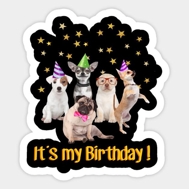 Cute Puppies Dogs Girls Boys Birthday T Shirt Sticker