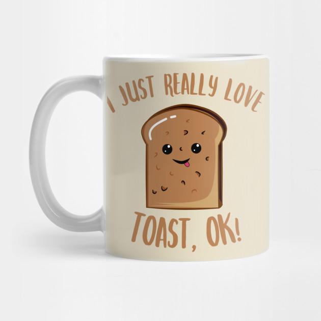 I Love Heart Toast Gift Mug
