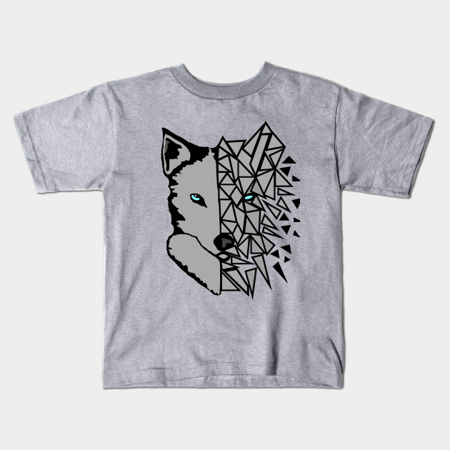 geometric wolf t shirt