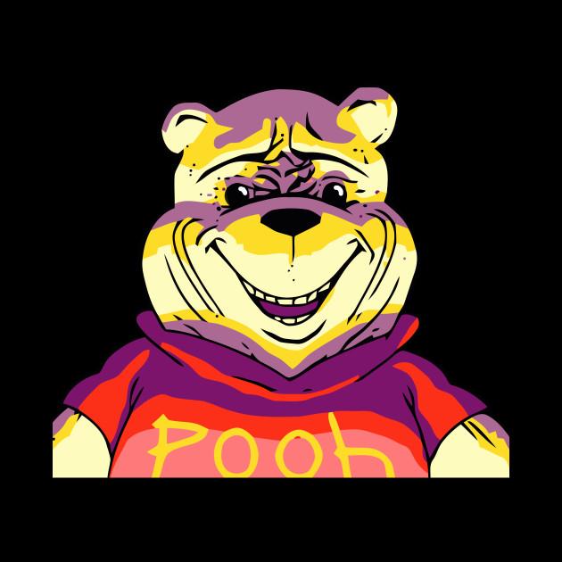 Evil Winnie Cartoon Horror T Shirt Winnie The Pooh Tapestry