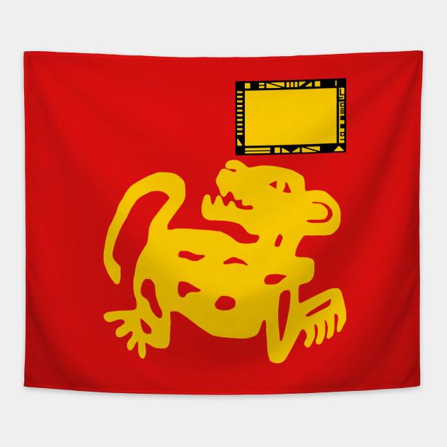 red jaguars legends of the hidden temple tapestry teepublic
