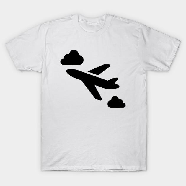6fdec0ca Flying Airplane Silhouette - Airplane - T-Shirt | TeePublic
