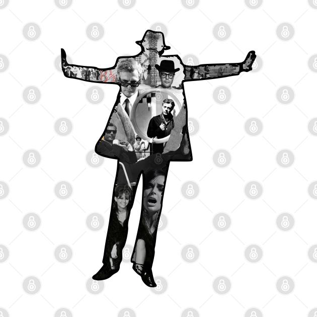 Fellini's 8 1/2 Floating Man Collage