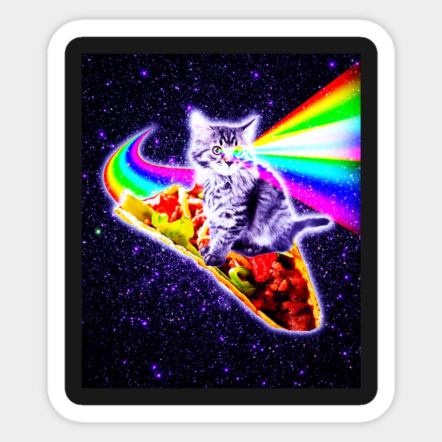 Taco From Outer Space Sticker