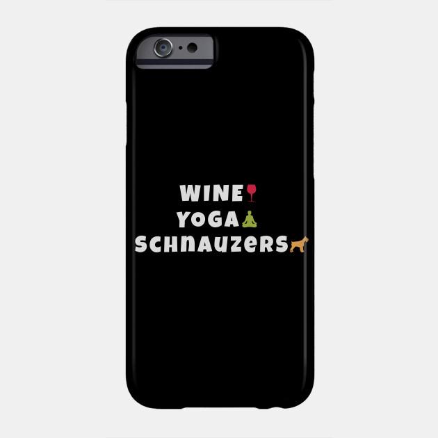 Miniature Schnauzer Yoga iPhone 11 case