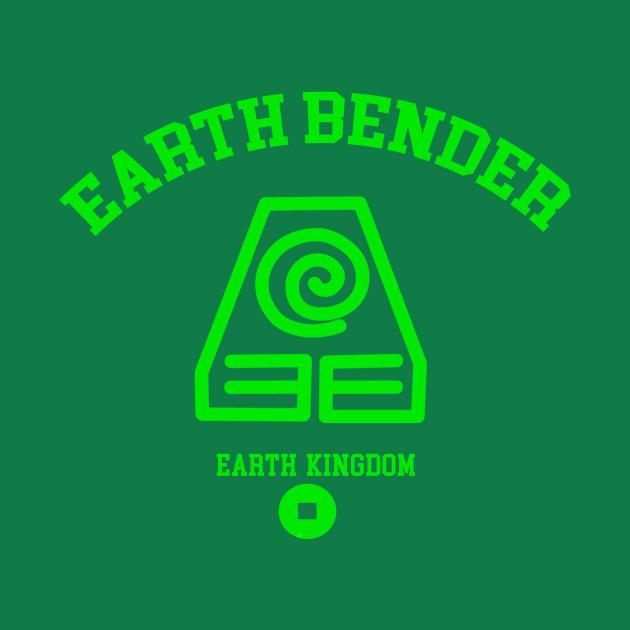Earth Bender College Avatar College T Shirt Teepublic