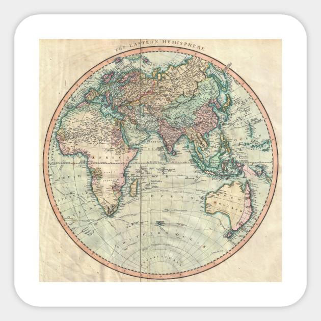 Vintage Map of The Eastern Hemisphere (1801)