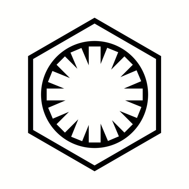 The First Order/New Imperial Logo - Black