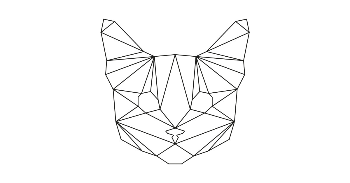 Geometric Black Cat Cat Pillow Teepublic