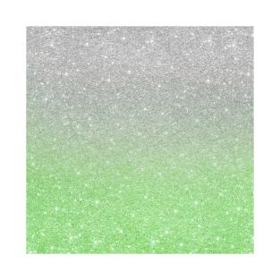 227c9cc0d46b Trendy Ombre Mint Green Silver Glitter T-Shirt