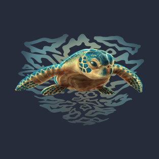 8c8ac4e9 Baby Sea Turtle T-Shirt. by AyotaIllustration
