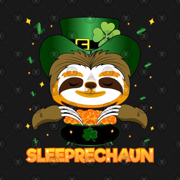 Leprechaun Irish Sloth St Patricks Day Sleeprechaun Gift