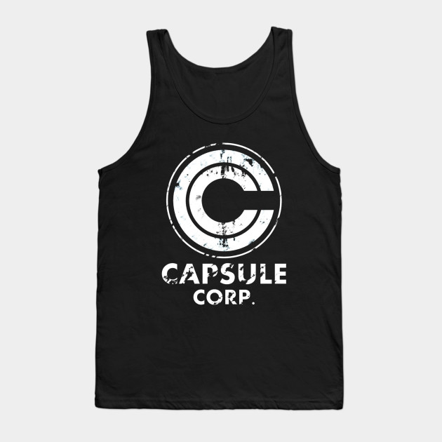 Dragon Ball Z Capsule Corp Symbol Adult Tank Top