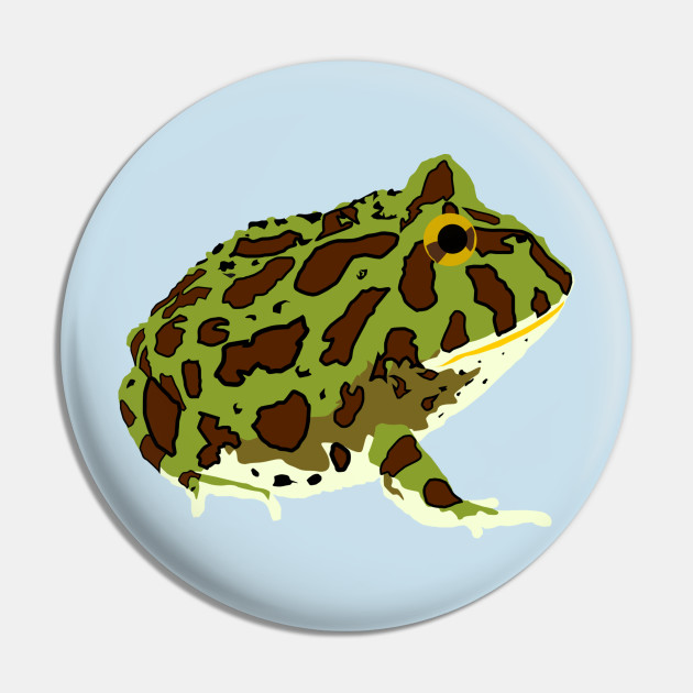 Ornate Pacman Frog Frog Pin Teepublic