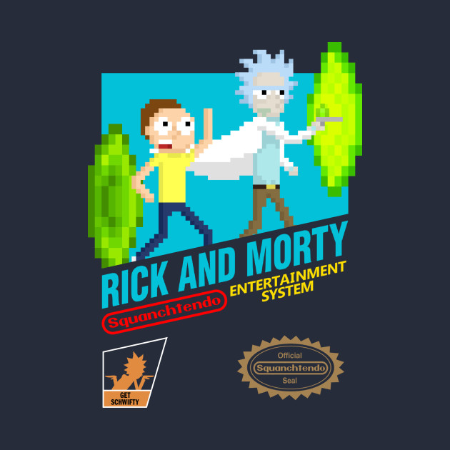 Rick and Morty NES Cartridge With Logos