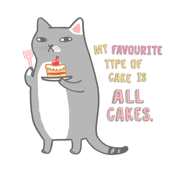 Celebration Cat - Favourite Type Of Cake