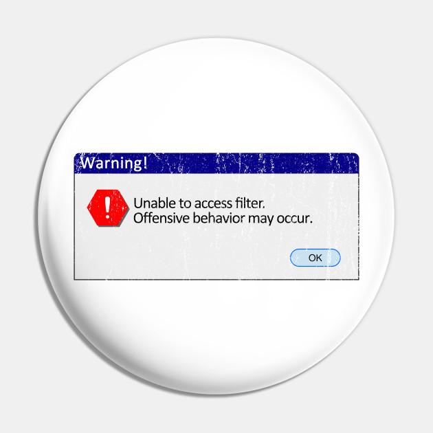 Windows Filter Warning