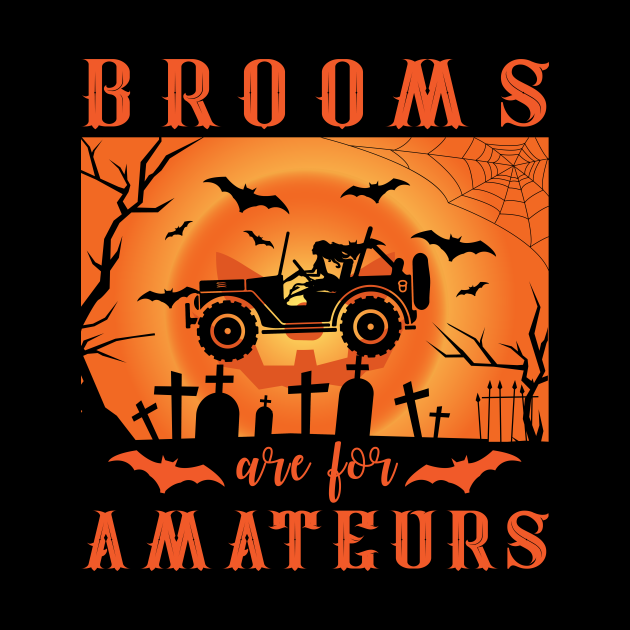 Jeep Halloween Brooms Are For Amateurs
