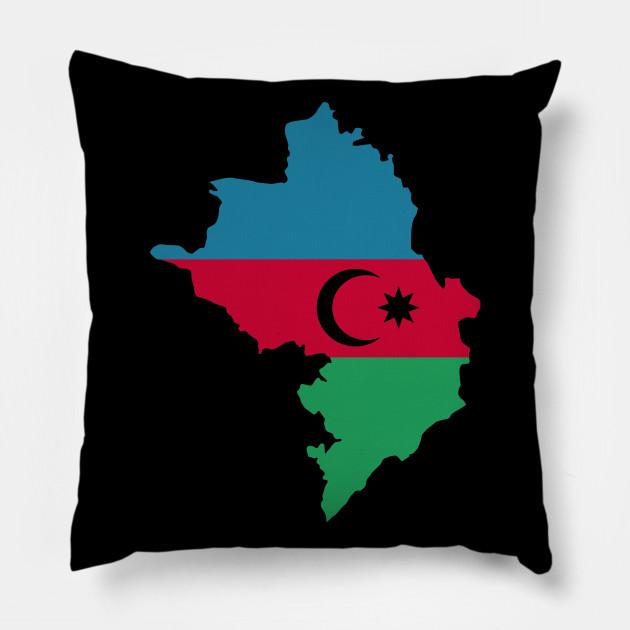 Azerbaijan Map Flag Azerbaijan Pillow Teepublic