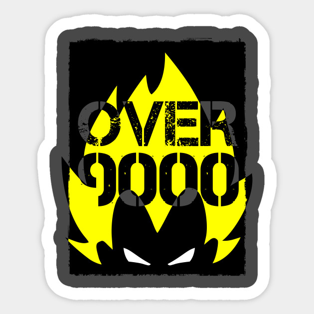 Vegeta Over 9000 Sticker