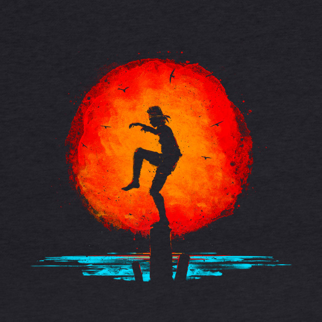 Karate Kid Minimal Tribute Painting