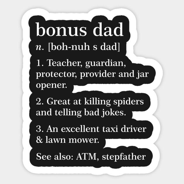 Bonus Dad Definition Funny Meaning Step Father Gift Bonus Dad