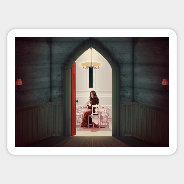 Red Room The Haunting Of Hill House Sticker Teepublic