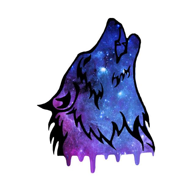 Galaxy Wolf - Wolf - Kids T-Shirt