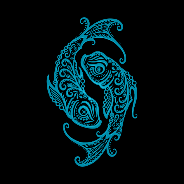 Blue Pisces Zodiac Sign