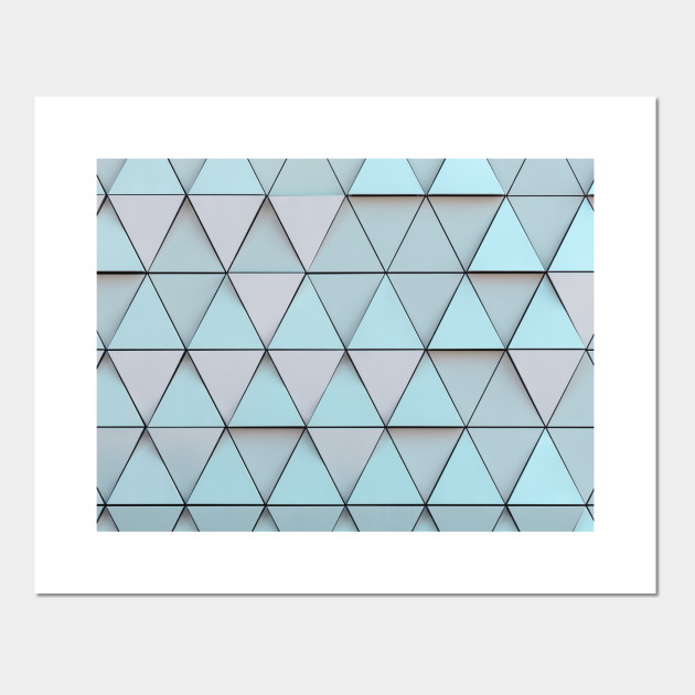 Teal Blue Geometric Pattern - Geometrical - Posters and ...