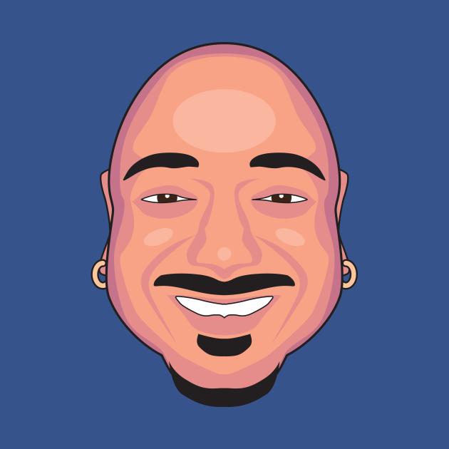 Giant Floating Bald Head