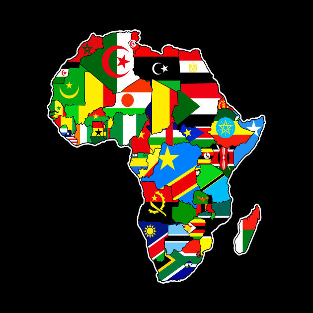 Map Of Africa With Flags.African Pride Flags Of African Countries Africa Map Flags Of