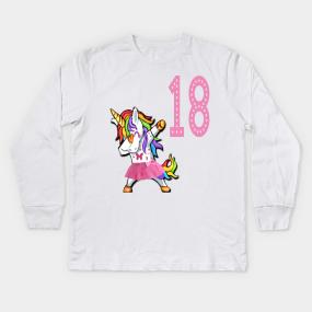 18th Birthday Gift Kids Long Sleeve T Shirts
