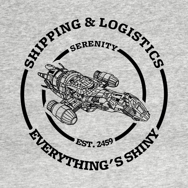 Serenity shipping and logistics (dark design)