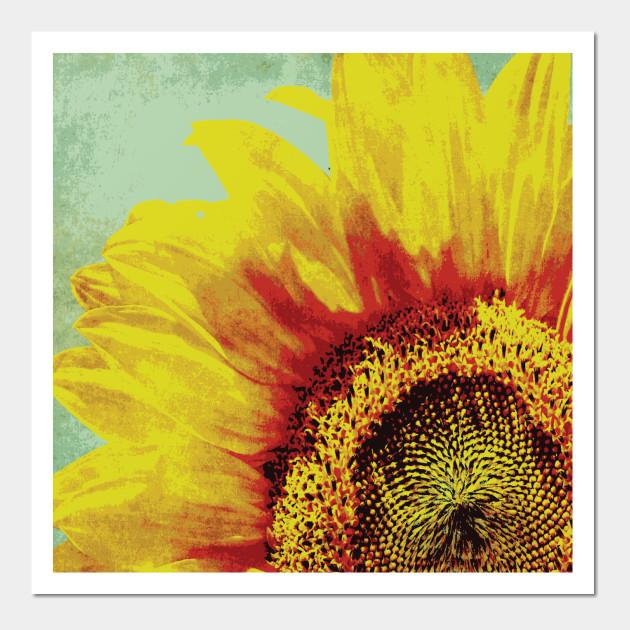 SUNFLOWER Pop Art - Sunflower - Wall Art | TeePublic