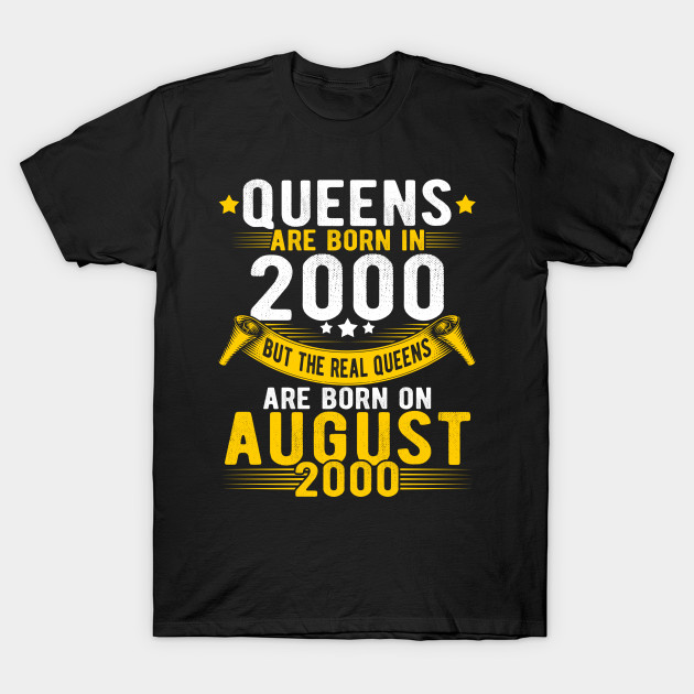 Queens Born In August 2000 18th Birthday Gift 18 Years Old