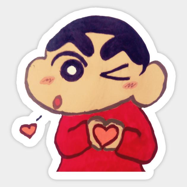 Crayon Shin Chan Love Crayon Shin Chan Sticker Teepublic