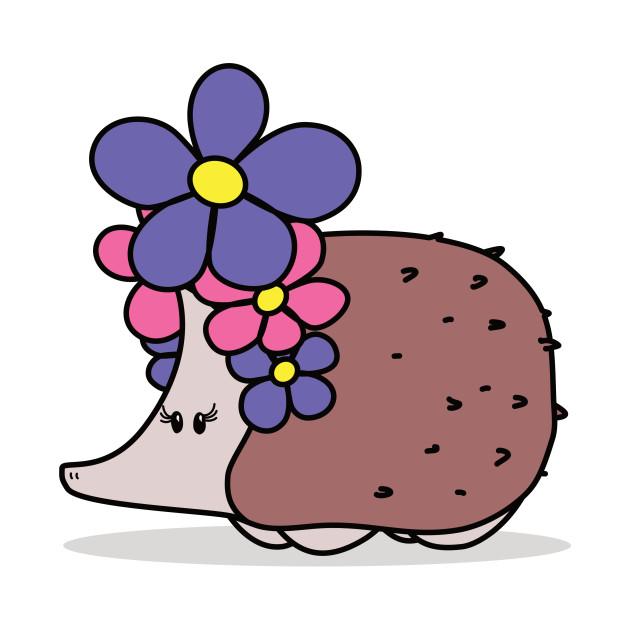 Super Cute Hedgehog with a Big Flower Headband