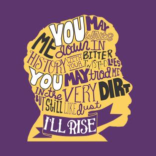 Literary Marvels-Maya Angelou t-shirts