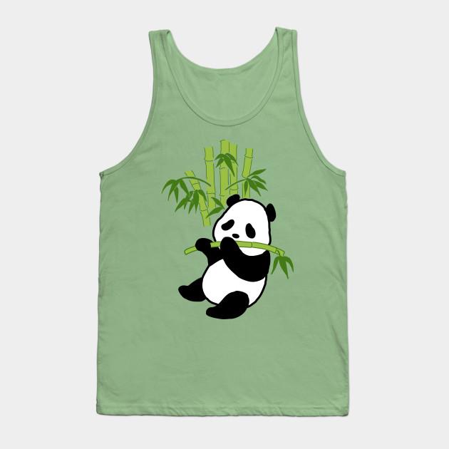 Panda Eating Cute Animals Drawing Tank Top Teepublic