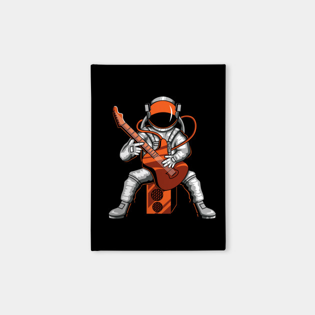 Astronaut playing music